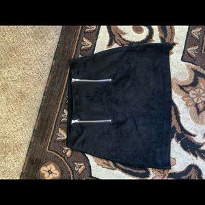 Forever 21 black suede mini skirt